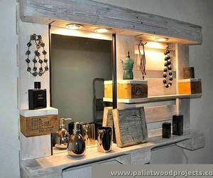 pallet towel rack, pallet bathroom projects, and pallet bathroom storage image