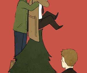 supernatural, christmas, and castiel image
