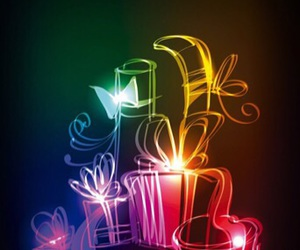 birthday candles, cake, and flowers image