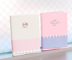 pink and notebook image