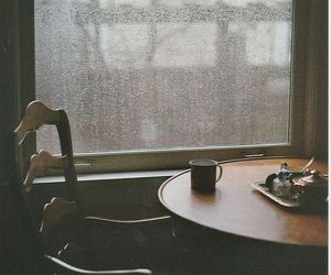 rain, coffee, and window image