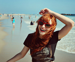 girl, beach, and smile image