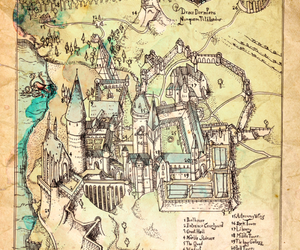 hogwarts, harry potter, and map image