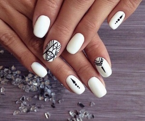 gorgeous, nails, and white image