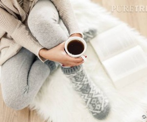 book, cocooning, and coffee image
