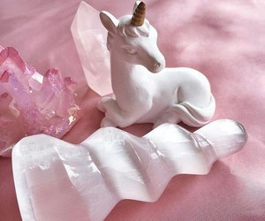 crystals, horn, and unicorns image