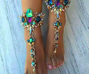 feet, accessories, and beauty image
