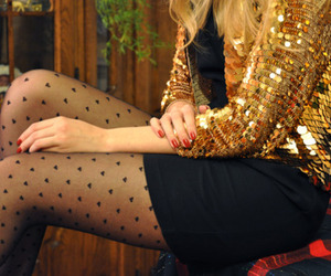 fashion, blonde, and gold image