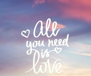 love, quotes, and sky image