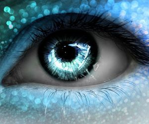 blue, eye, and fantasy image