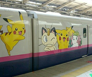 pokemon, train, and japan image