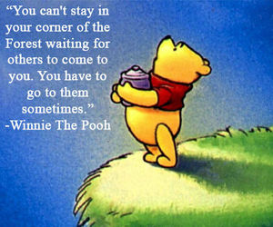 quote, text, and winnie the pooh image