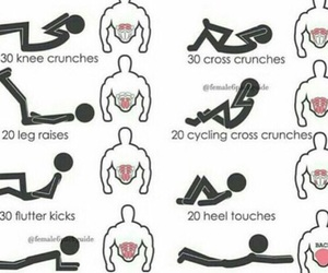 exercise, workout, and fitness image