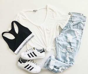 adidas, Calvin Klein, and outfit image