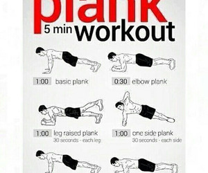 workout, plank, and abs image