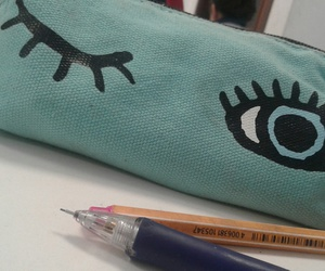 eyes, study, and pencilcase image