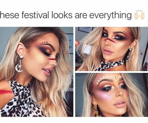 beauty, festivals, and makeup image