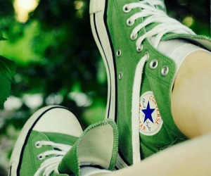 converse, green, and fashion image