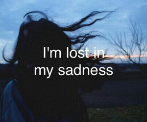 sad, lost, and sadness image
