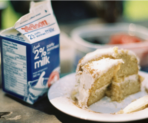 cake, food, and milk image