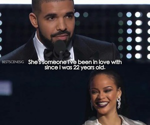 Drake, love, and rihanna image