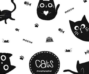 background, pattern, and cat image