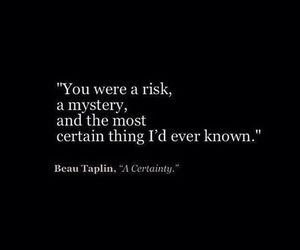 quotes, risk, and mystery image