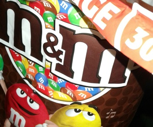 dinner, m&m, and sweets image
