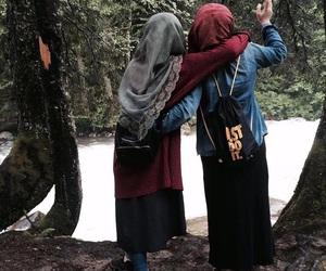 bff, hijab, and peace image