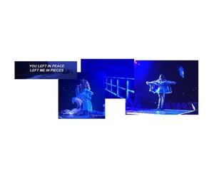 black, blue, and header image