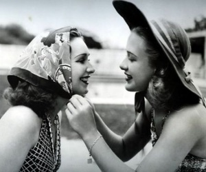 girl, 50s, and hat image