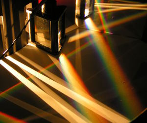 rainbow, glass, and light image