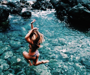 beach, summer, and turquoise image