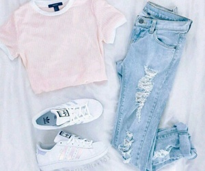 adidas, hipster, and pink t-shirt image