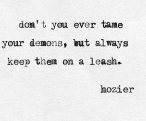 quote, song, and demons image
