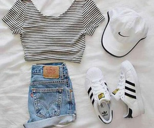 adidas, black and white, and hipster image