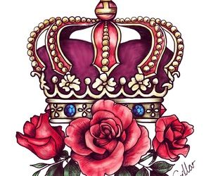crown, drawing, and illustration image