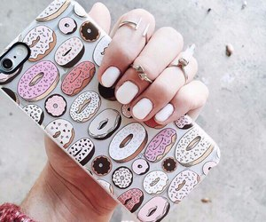 beautiful, manicure, and donuts image