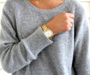 fashion, sweater, and watch image