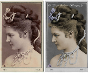 picture, vintage, and woman image