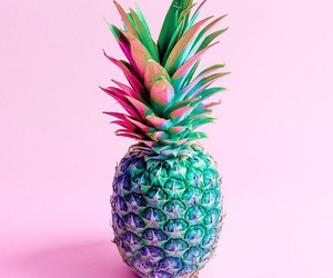 pineapple, pink, and fruit image