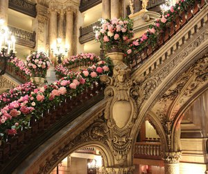 flowers, architecture, and rose image