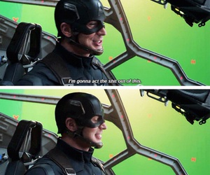 bloopers, captain america, and chris evans image