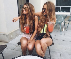 best friends, clothes, and drink image