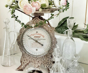 beautiful, flowers, and shabby chic image