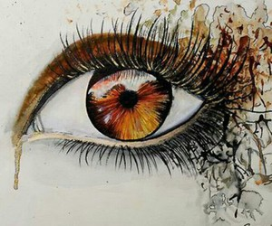 art, eye, and draw image