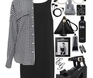 black, cool, and dress image