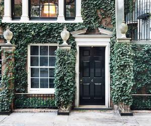 autumn, city, and door image