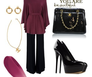 bag, earrings, and high heels image
