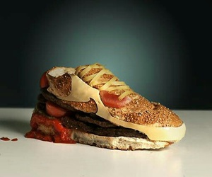 food, nike, and burger image